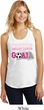 Kicking Breast Cancer is Our Goal Ladies Racerback Tank Top
