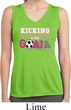 Kicking Breast Cancer is Our Goal Ladies Sleeveless Moisture Wicking