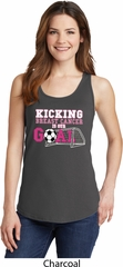 Kicking Breast Cancer is Our Goal Ladies Tank Top