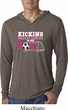 Kicking Breast Cancer is Our Goal Lightweight Hoodie Shirt