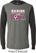 Kicking Breast Cancer is Our Goal Lightweight Hoodie Tee