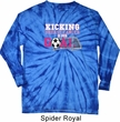 Kicking Breast Cancer is Our Goal Long Sleeve Tie Dye Shirt
