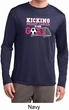 Kicking Breast Cancer is Our Goal Mens Dry Wicking Long Sleeve Shirt