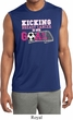 Kicking Breast Cancer is Our Goal Mens Sleeveless Moisture Wicking