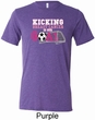 Kicking Breast Cancer is Our Goal Mens Tri Blend Crewneck Shirt
