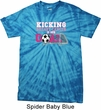 Kicking Breast Cancer is Our Goal Spider Tie Dye Shirt