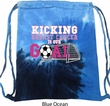 Kicking Breast Cancer is Our Goal Tie Dye Bag