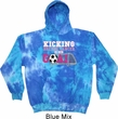 Kicking Breast Cancer is Our Goal Tie Dye Hoodie