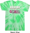 Kicking Breast Cancer is Our Goal Twist Tie Dye Shirt
