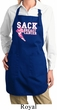 Kicking Breast Cancer Ladies Full Length Apron with Pockets