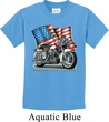 Kids Biker Shirt Motorcycle Flag Tee T-Shirt