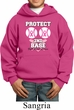 Kids Breast Cancer Awareness Hoodie Protect 2nd Base Hoody