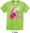 Kids Breast Cancer Awareness Shirt Fight For a Cure Tee T-Shirt