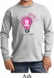 Kids Breast Cancer Awareness Shirt Think Pink Long Sleeve Tee T-Shirt
