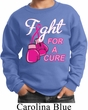 Kids Breast Cancer Awareness Sweatshirt Fight For a Cure Sweat Shirt