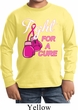 Kids Breast Cancer Shirt Fight For a Cure Long Sleeve Tee T-Shirt
