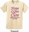 Kids Breast Cancer Tee Hope Love Cure Youth T-shirt