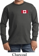 Kids Canadian Flag Pocket Print Youth Long Sleeve