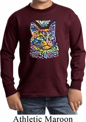 Kids Cat Tee Love Cat Youth Long Sleeve