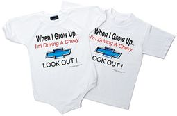 Kids Chevy Tee shirt - When I Grow Up, Lookout!