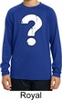 Kids Distressed Question Dry Wicking Long Sleeve Shirt