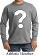 Kids Distressed Question Long Sleeve Shirt