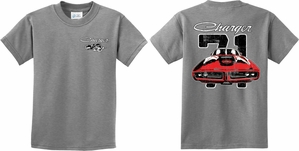 Kids Dodge 1971 Charger (Front & Back) Youth T-shirt