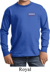 Kids Dodge Brothers Pocket Print Long Sleeve Shirt