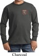 Kids Dodge Garage Pocket Print Long Sleeve Shirt