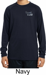Kids Dodge Plymouth Cuda Pocket Print Dry Wicking Long Sleeve Shirt