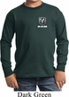 Kids Dodge Ram Logo Pocket Print Long Sleeve Shirt