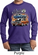 Kids Dodge Tee Blue and Orange Super Bee Youth Long Sleeve