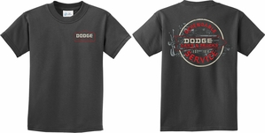 Kids Dodge Tee Vintage Dodge Sign (Front & Back) Youth T-shirt