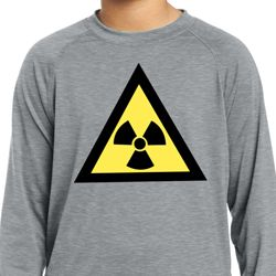 Kids Fallout Radioactive Triangle Dry Wicking Long Sleeve Tee T-Shirt