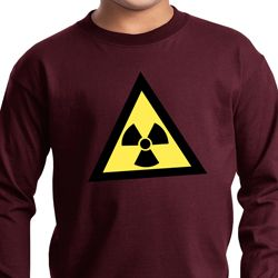 Kids Fallout Shirt Radioactive Triangle Long Sleeve Tee T-Shirt