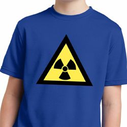 Kids Fallout Shirt Radioactive Triangle Moisture Wicking Tee T-Shirt