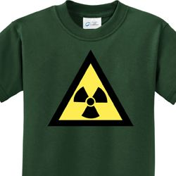 Kids Fallout Shirt Radioactive Triangle Tee T-Shirt