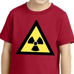 Kids Fallout Shirt Radioactive Triangle Toddler Tee T-Shirt