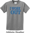 Kids Fitness Shirt I Work Out Tee T-Shirt
