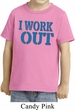 Kids Fitness Shirt I Work Out Toddler Tee T-Shirt