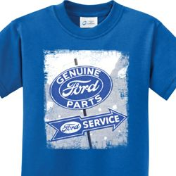 Kids Ford Shirt Vintage Sign Genuine Ford Parts Tee T-Shirt