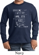 Kids Ford Tee Mustang Blue Print Youth Long Sleeve
