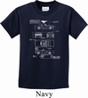 Kids Ford Tee Mustang Blue Print Youth T-shirt
