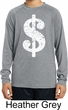 Kids Funny Distressed Dollar Sign Dry Wicking Long Sleeve Tee T-Shirt