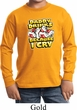 Kids Funny Shirt Daddy Drinks Because I Cry Long Sleeve Tee T-Shirt