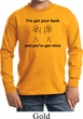 Kids Funny Shirt I've Got Your Back Long Sleeve Tee T-Shirt