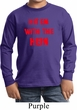 Kids Funny Tee Hit em with the Hein Youth Long Sleeve