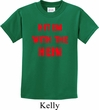 Kids Funny Tee Hit em with the Hein Youth T-shirt