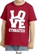 Kids Gymnastics Shirt Love Gymnastics Toddler Tee T-Shirt
