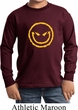 Kids Halloween Shirt Evil Smiley Face Long Sleeve Tee T-Shirt